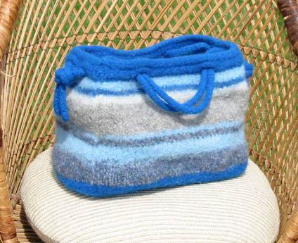 Blue Stripe Purse